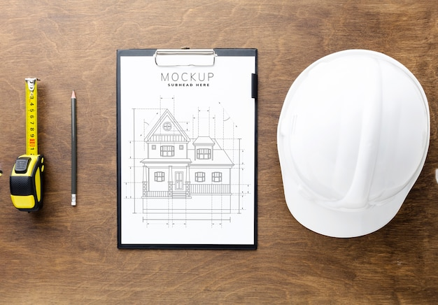 Engineering tools with clipboard mock-up Free Psd