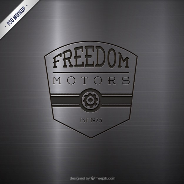 Engraved motors logo Free Psd
