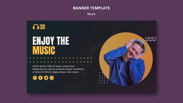 Наслаждайтесь музыкальным шаблоном баннера Бесплатные Psd