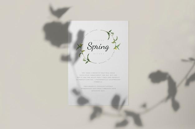 봄 시즌 카드 모형을 즐기십시오 무료 PSD 파일