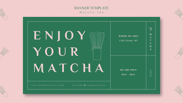 Enjoy your matcha banner template Free Psd