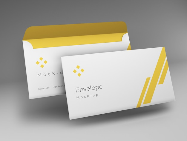 Дизайн макета конверта Premium Psd