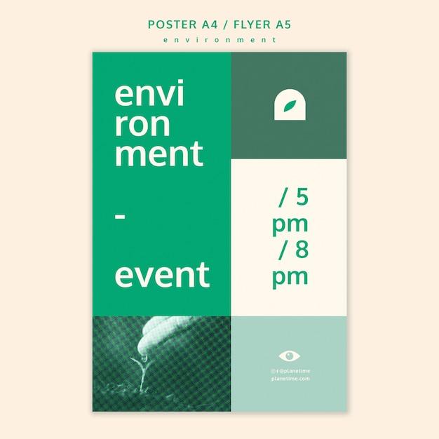 환경 전단지 개념 모형 무료 PSD 파일