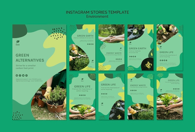 Environment instagram stories template Free Psd