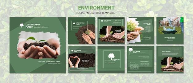 Environment social media post template Free Psd