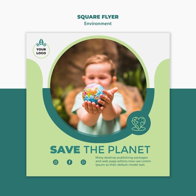 환경 광장 전단지 모형 무료 PSD 파일