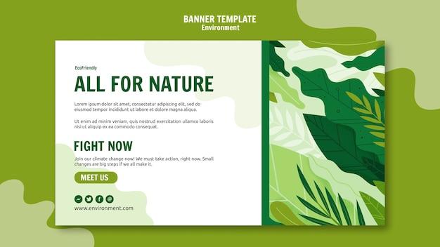 Environmental banner template Free Psd