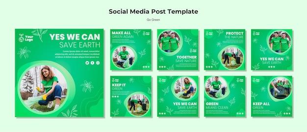 Environmental social media post template Free Psd