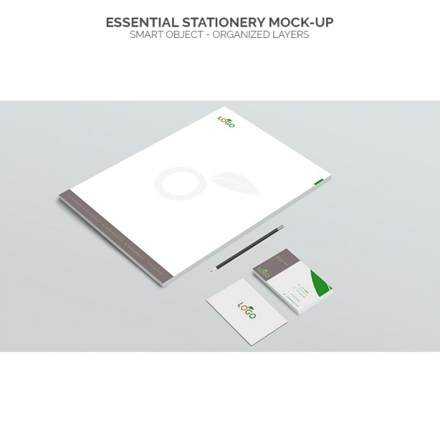 Essential stationery mock up Free Psd