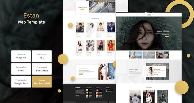 Веб-шаблон магазина модной одежды estan Premium Psd