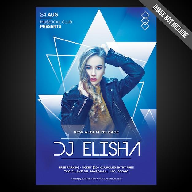 Летняя вечеринка event flyer / плакат с редактируемыми объектами Premium Psd