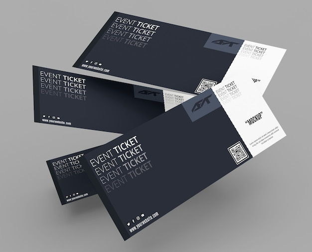 Event ticket mockup Premium Psd