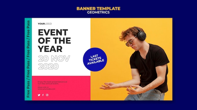 Event of the year banner template Free Psd