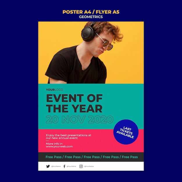 Event of the year poster template Free Psd