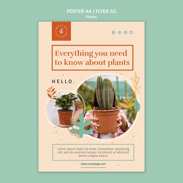 植物のポスターについて知っておくべきことすべて 無料 Psd