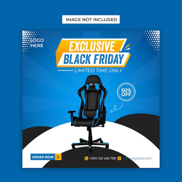 Exclusive black friday social media and facebook cover post template Premium Psd