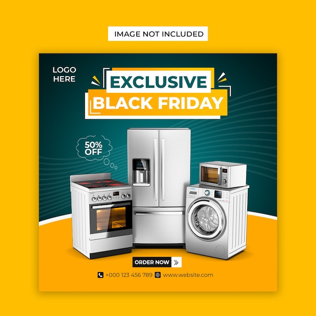Exclusive black friday social media and instagram post template Premium Psd