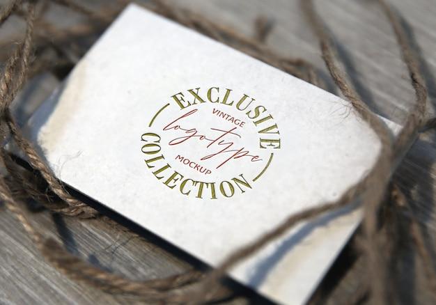 Exclusive vintage logotype mockup collection Premium Psd