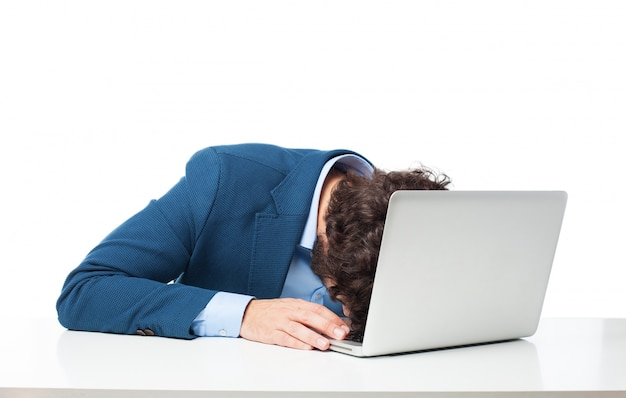 Исполнительный спать на своем ноутбуке Бесплатные Psd