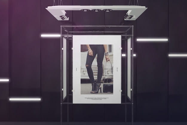 Exhibition poster stand mockup Premium Psd