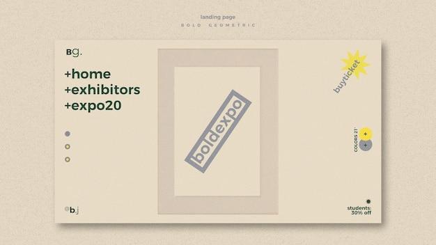 박람회 이벤트 랜딩 페이지 템플릿 무료 PSD 파일