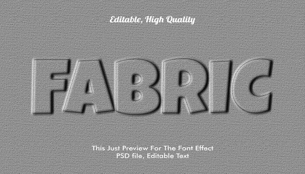 ファブリック3dテキストスタイル Premium Psd