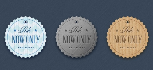 Fabric badges in retro style Free Psd