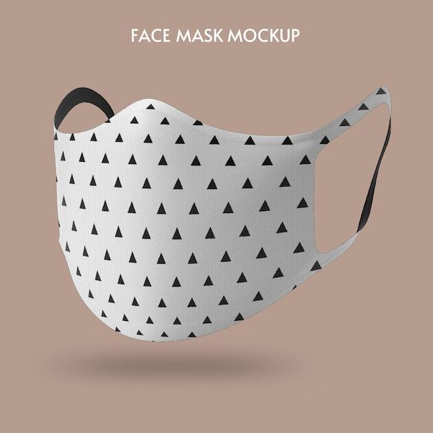 Шаблон макета маски для лица Premium Psd