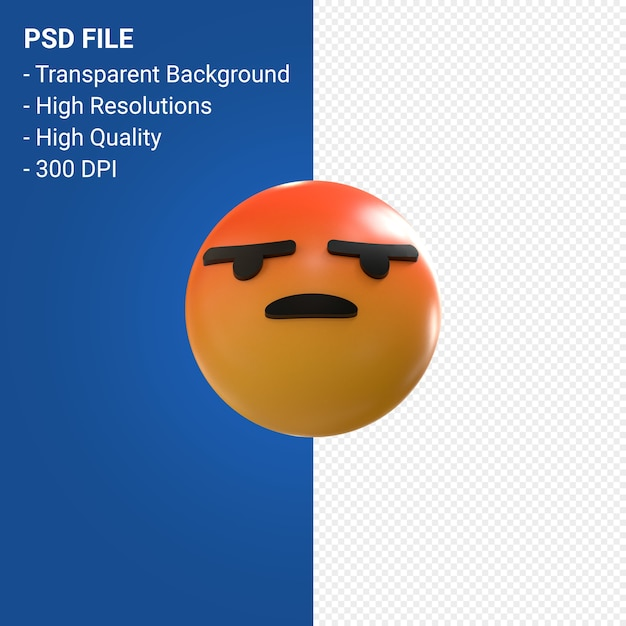 Facebook 3d emoji reactions like isolated Premium Psd