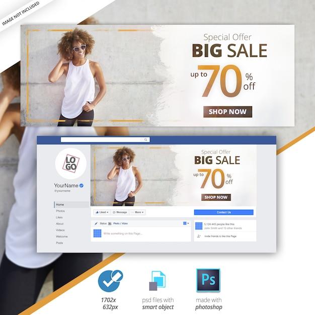 Facebook cover sale social media web banner Premium Psd