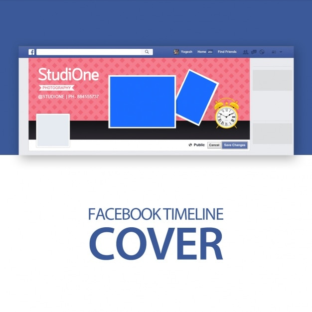 Facebook cover template PSD file | Free Download