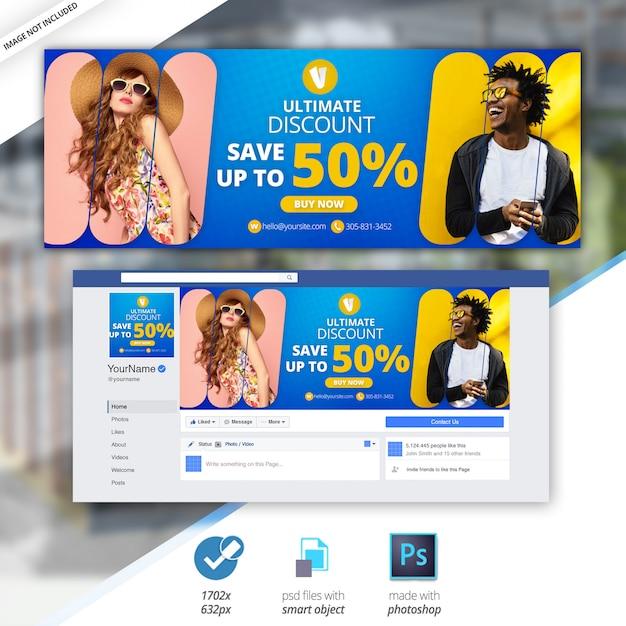 Facebook sale timeline cover banner Premium Psd