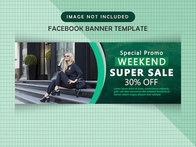 Facebook sale timeline cover Premium Psd