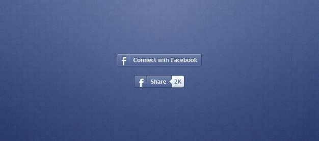Facebook Share Button PSD file | Free Download Facebook Like Button Psd