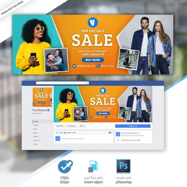 セールバナーfacebookタイムラインカバー Premium Psd