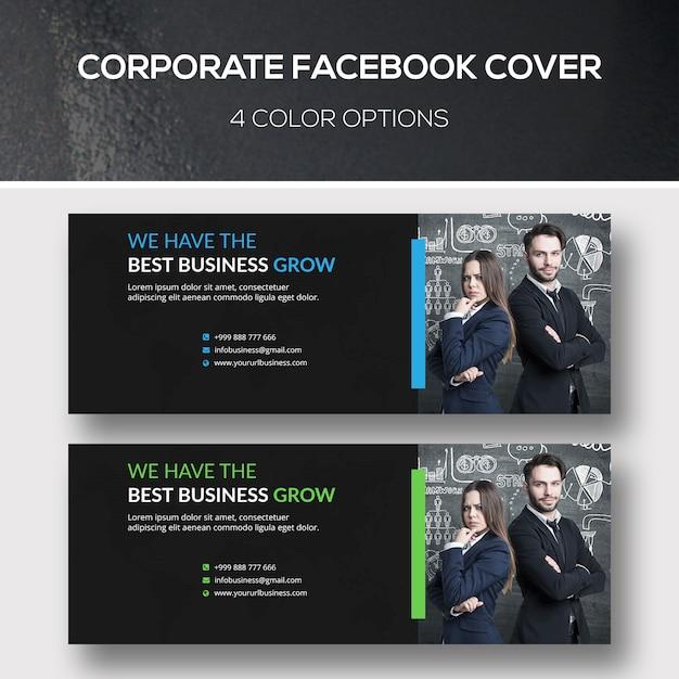 企業のfacebookカバー Premium Psd