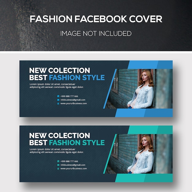 Модная обложка facebook Premium Psd
