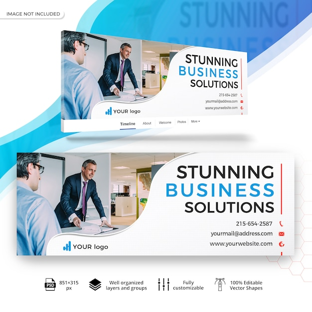 ビジネスマーケティングfacebookバナー Premium Psd