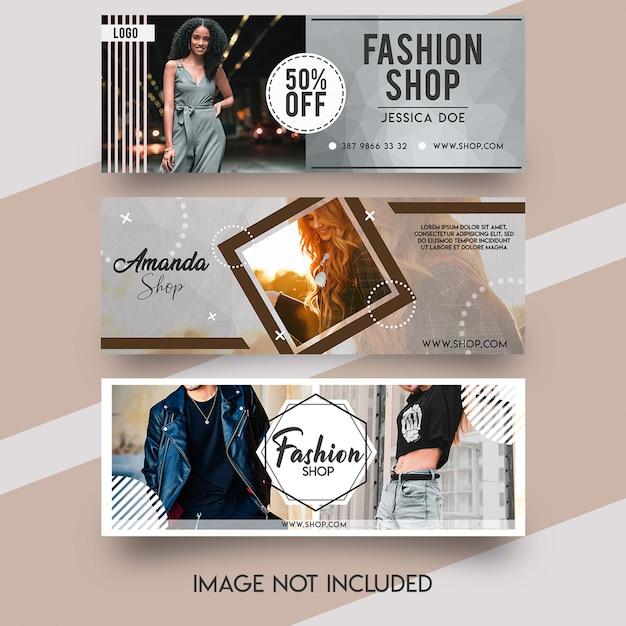 Модный шаблон обложки facebook Premium Psd