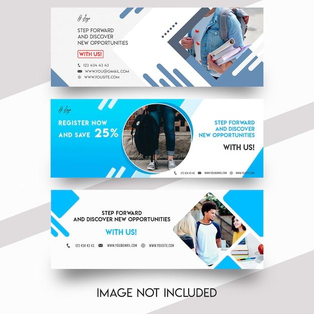 Шаблон обложки для facebook Premium Psd