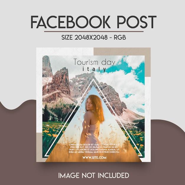 Шаблон социальной сети facebook Premium Psd