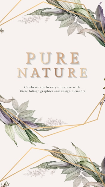 Faded foliage banner Premium Psd