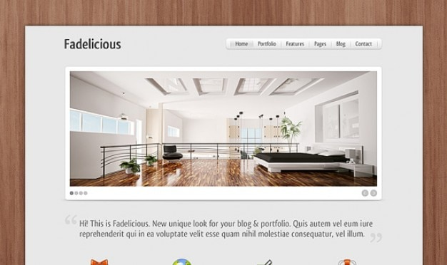 Fadelicious Bedroom Homepage PSD Free Psd
