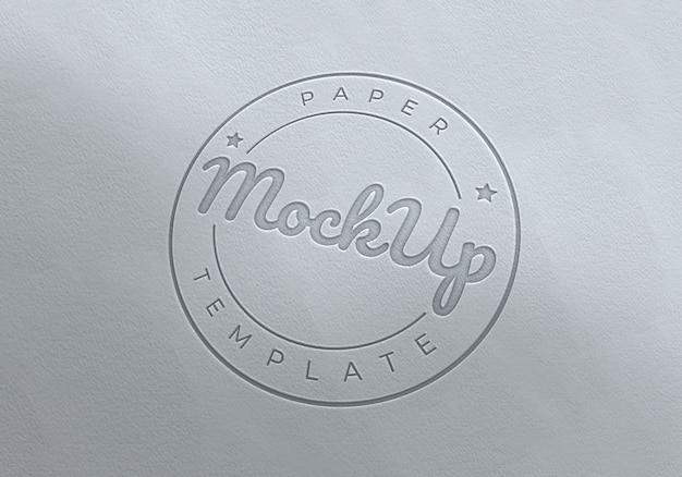 Необычные бумаги логотип тиснение макет шаблона Premium Psd