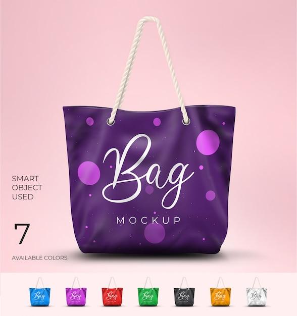Fashion bag mockup Premium Psd