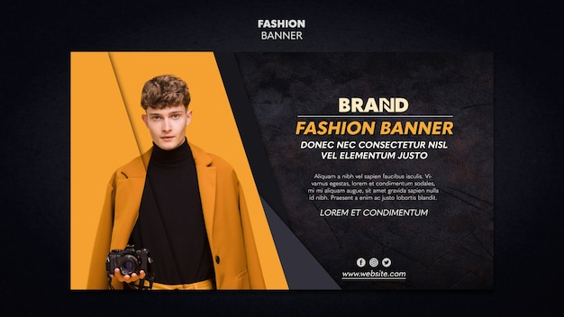 Fashion banner template Free Psd