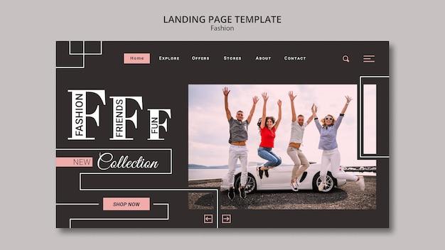 Шаблон целевой страницы коллекции моды Бесплатные Psd