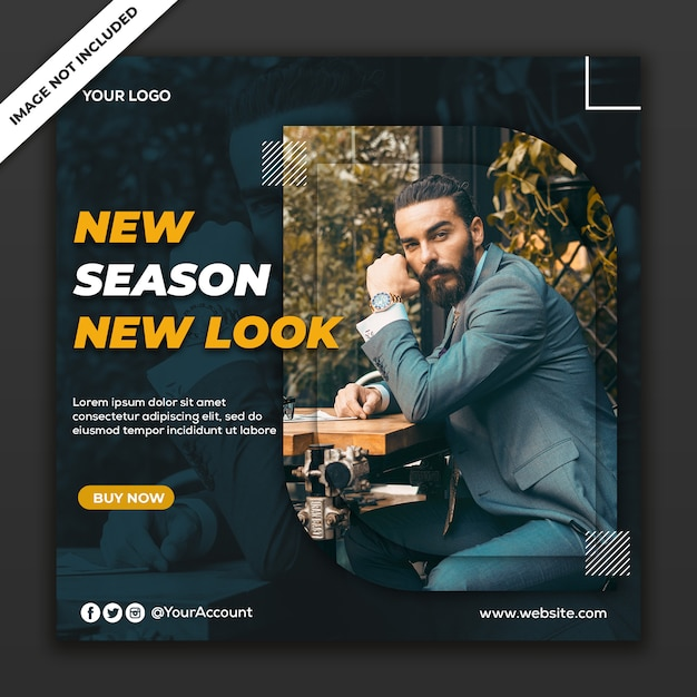 Fashion collection in social media post template Premium Psd