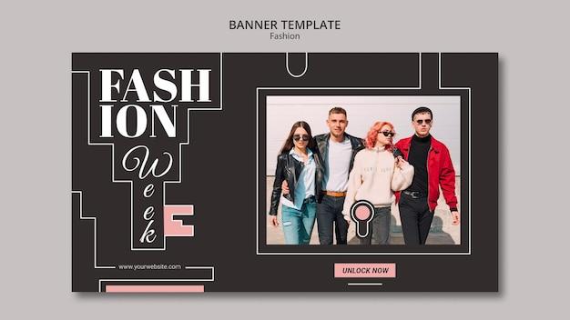 Мода концепция баннер шаблон стиля Бесплатные Psd
