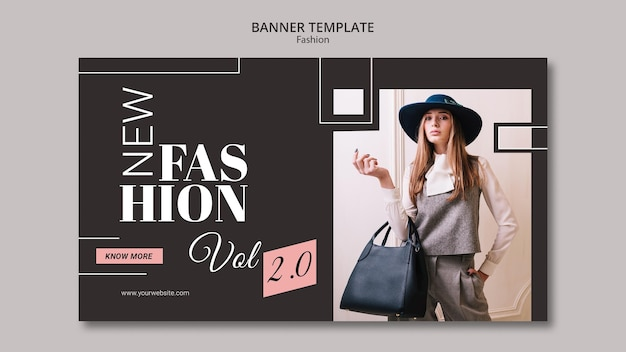 Шаблон баннера концепции моды Premium Psd
